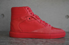 3156ff88cdc Balenciaga Cambure Panelled Leather Suede High Top Sneakers - Red 5 UK 39  EUR