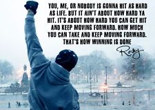 Rocky Balboa Quote Typography Gym Boxing Giant Poster A5 A4 A3 A2 A1 A0 Sizes