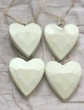 Shabby Chic Wooden Hanging 3D Heart Sign Plaque Valentines Birthday Wedding