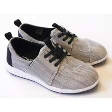 Toms Del Rey Boys Textured Woven Grey Lace Up Trainer RRP £35