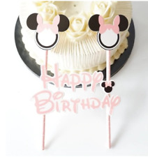 Disney MINNIE MICKEY MOUSE CAKE BUNTING Banner Topper Decoration Birthday Party