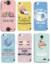 TPU Gel Silicona Carcasa Funda Apple iPhone 5 5S 6 6S Plus 7 8 X FRASES DIBUJOS