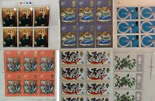 GB Great Britain Stamps 1960 -1970 's Various blocks of Mint Stamps