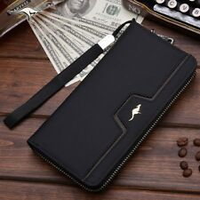 Male Wallet Long Clutch Wrist Strap Design Big Capacity Phone Bag Card Holder