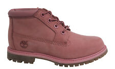 Timberland AF Nellie Chukka Lace Up Pink Womens Leather Boots A14QW D14