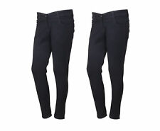 Indistar Women's Low Waist Black Skinny Jeans Pack of 2 (71900-01-2-IW-P2)