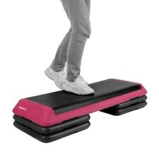 Adjustable Aerobic Platform Stepper with Risers Step Aerobics Trainer Workout Sy