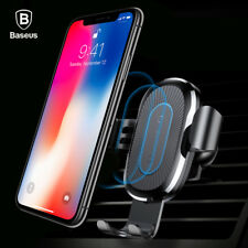 Baseus Qi Wireless Charger Car Air Vent Mount Fast Charging Pad Holder Stand