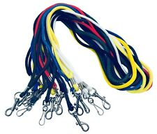 Strong Rope Neck Lanyard With Metal Dog Clip For Keys &ID Card Pass Holder lot