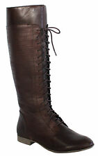 Hush Puppies FARLAND 40.6cm Donna Zip stivali pelle marrone h506634 D102