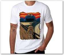 Cookie Monster Printed Cotton Men T shirt triki sesame street