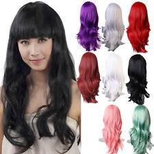 Wig Natural Curly Straight Wavy Fancy Dress Womens Ladies Hair Cosplay Wavy