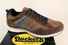 DOCKERS Chaussures à Lacets Basses Baskets Cuir Brun Neuf