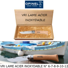 Poplar box: real knives OPINEL VRI stainless steel blade FRANCE NUM. 6-7-8-9-10