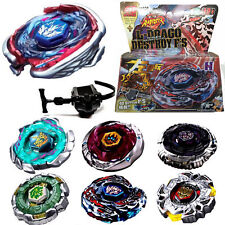 Fusion Metal Rapidity Fight Masters 4D Top Beyblade String Launcher Toys Set