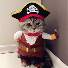 😍Cat & Dog Puppy Pet Costume Clothes Cute Funny Pirate Suit 😍