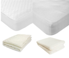 """Luxury Quality Mattress Protector Topper Bed Cover Fitted Sheet Extra Deep 12"""""""