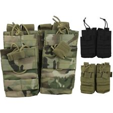 WEBBING MOLLE DOUBLE DUO MAGAZINE AMMO POUCH X4 MAGS PAINTBALLING BRITISH ARMY