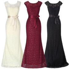 Lace Sexy Formal Evening Party V Back Wedding Gown Bridesmaid Maxi Long Dress