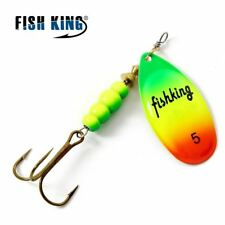 Spinner Bait 1PC Fishing Lure Bass Hard Baits Spoon With Treble Hook Tackle