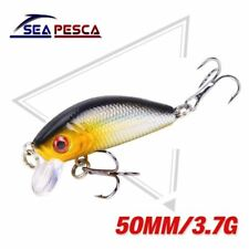 Fishing Lure 50mm 3.7g Topwater Minnow Hard Bait Mini Crankbait Carp Fishing