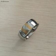 Never fading silver gold color ring textured greek key stainless steel