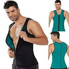 CANOTTA UOMO CON ZIP SNELLENTE HOT SHAPERS TRAINING MAGLIA DIMAGRANTE COMODA