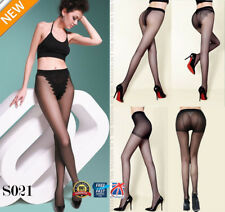 Lady Womens Sheer Sexy Invisible Pantyhose Tights See-through Seam Pants S021