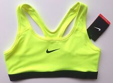 SPORTS BRA NIKE PRO CLASSIC XS 6 - 8 S 8 - 10 M 10 - 12 Volt MEDIUM SUPPORT BNWT
