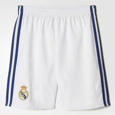 Adidas 2016/2017 Real Madrid Junior Boys Kids Home Football Kit Shorts - White