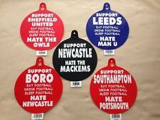 FOOTBALL CAR STICKERS SHEFFIELD UTD LEEDS NEWCASTLE MIDDLESBROUGH & SOUTHAMTON