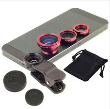 3in1 Clip On Lens Fisheye 180 Wide Angle Macro Lens fr iPhone 7 6 6S plus LG G4