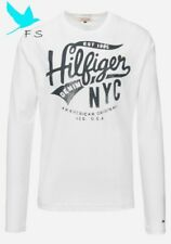 100% Authentic T-SHIRT TOMMY HILFIGER Manches Longues – WHITE – shirt MEN – M...