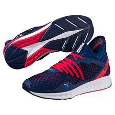 New Men's Puma Ignite Netfit - 190339-01 Blue Red Running Sneaker
