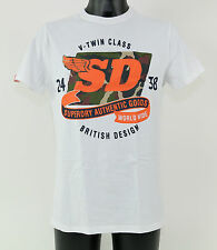 Superdry Camiseta - ms1ja053 01c - WORLD WIDE camo-entry Tee - Optic - Blanco +