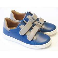 Shoo Pom Ducky Scratch Boys Blue Leather Casual Shoes With Grey Straps