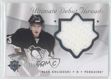 2008 Ultimate Collection Debut Threads #DT-AG Alex Goligoski Pittsburgh Penguins