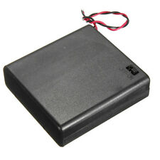 4AA / 8AA Battery Case Holder Enclosed Box 6V / 12V Wired ON/OFF Switch DC Plug
