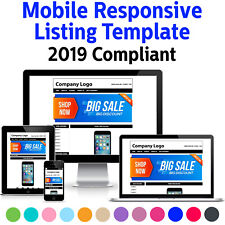 Template Ebay Listing Auction Design 2018 Responsive Professional Compliant Html