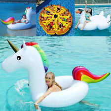 Giant Inflatable Unicorn Water Float Raft Ride On Pool Lounger Beach Toy 3 Types