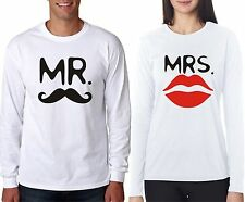 Full Sleeve T Shirt Mr. Mrs Couple t shirt For Hot and Sexy Couple in Love