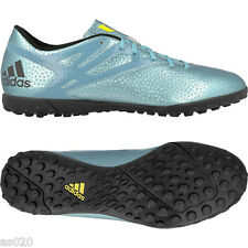 Adidas Messi 15.4 Mens Adult Astro Turf TF Football Boots Trainers - Ice Blue