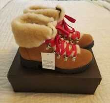 NEW WOMENS 6 7 10 J CREW NORDIC WINTER BOOTS WITH SHEARLING GLAZED PECAN BROWN