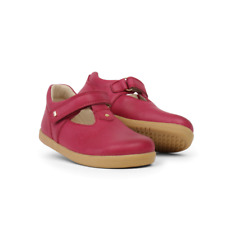 New Bobux I-Walk Louise Pink Leather Barefoot T-Bar Shoes