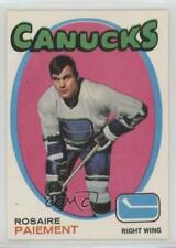 1971-72 O-Pee-Chee #233 Rosaire Paiement Vancouver Canucks Hockey Card