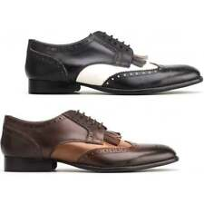 Base London BARTLEY BROGUE Mens Burnished/Waxed Leather Lace Up Formal Shoes