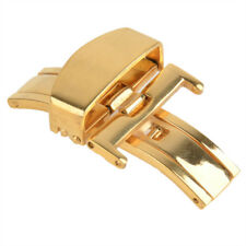 Stainless Steel Watch deployment buckle butterfly clasp strap 18, 20mm UK Seller