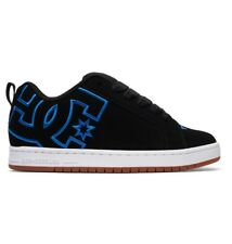 DC SHOES COURT GRAFFIK BLACK BLACK BLUE TRAINERS