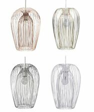 Modern Wire Easy Fit Ceiling Light Shade Chandelier - Chrome Copper White Gold