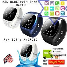 NEW M26 Bluetooth Waterproof Smart Watch For Android IOS Built in Mic Speaker
